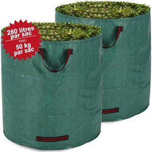 SAC À DÉCHETS VERTS  DEUBA | Lot de 2 sacs de jardin - 280 litres, char