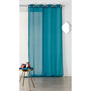 VOILAGE Voilage uni à oeillets 'Kate' Turquoise 140 x 240