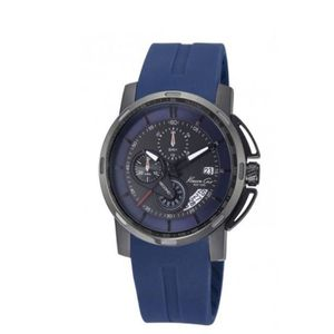 MONTRE Montre chrono pour homme bracelet silicone bleu...