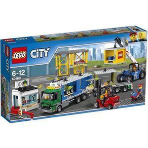 ASSEMBLAGE CONSTRUCTION LEGO® City 60169 Le Terminal à Conteneurs