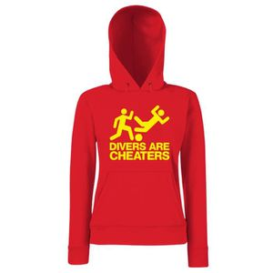SWEATSHIRT Sweatshirt a capuche Femme WC0324 DIVERS ARE CHEAT