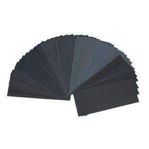 Assortiment set papier abrasif 5 feuilles de 60 80 120 3000 5000 sable papier 21x11 CM