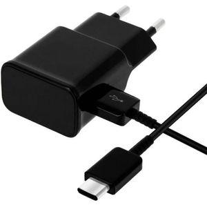 CHARGEUR TÉLÉPHONE Cable USB-C +Chargeur Secteur Noir [Compatible Xia