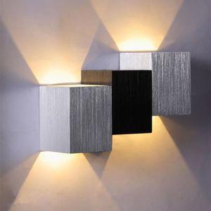 APPLIQUE  2W AC Applique murale en forme de carré en alumini