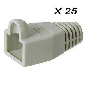 CÂBLE RÉSEAU  VSHOP® Lot de 25 manchons RJ45 8P8C 6mm pour cable