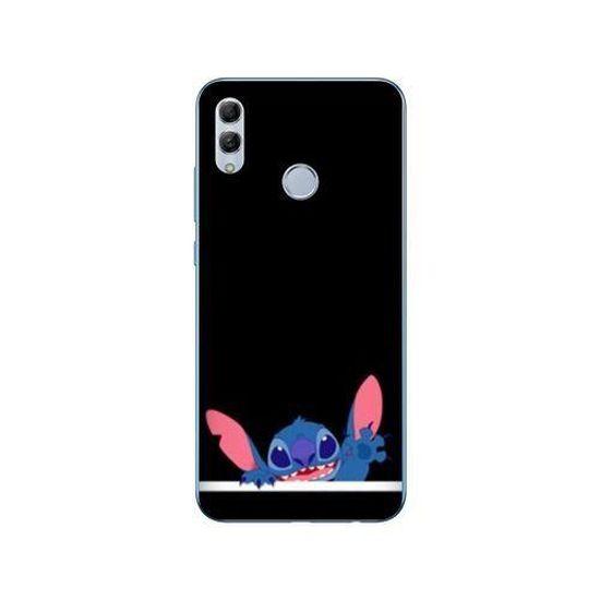 Coque Huawei Honor 10 Lite / P Smart (2019) Stitch Noir taille unique