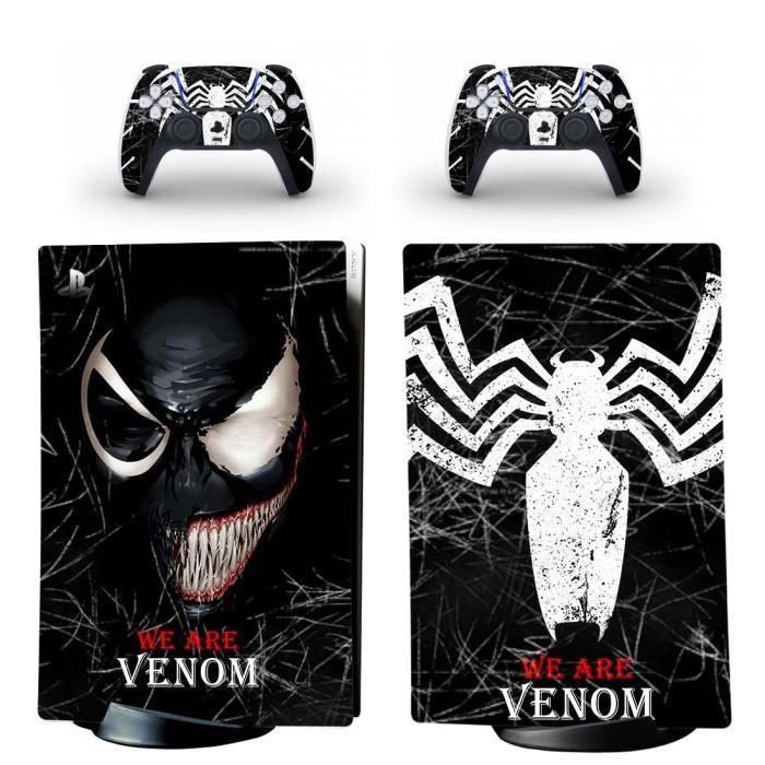Venom PS5 Digital Édition Sticker Skin Autocollant de protection pour PS5 Playstation 5 Digital Édition Console et 2 contrôleurs