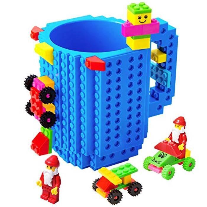 Jeu D'Assemblage Z49OB tasse à brique à construire, nouveauté créative compatible avec les blocs de construction lego diy tasse à ca