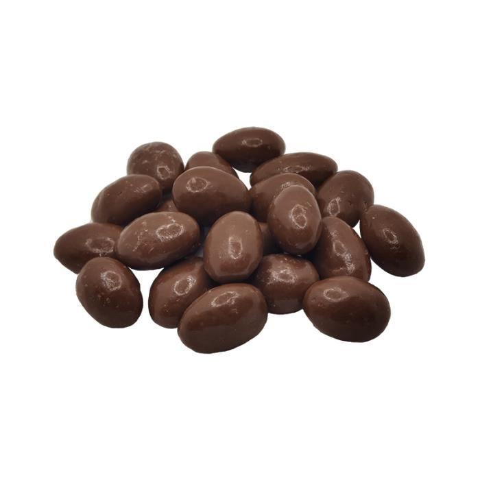 Amandes enrobées au chocolat au lait 31% cacao Artisanale- sachet 250G