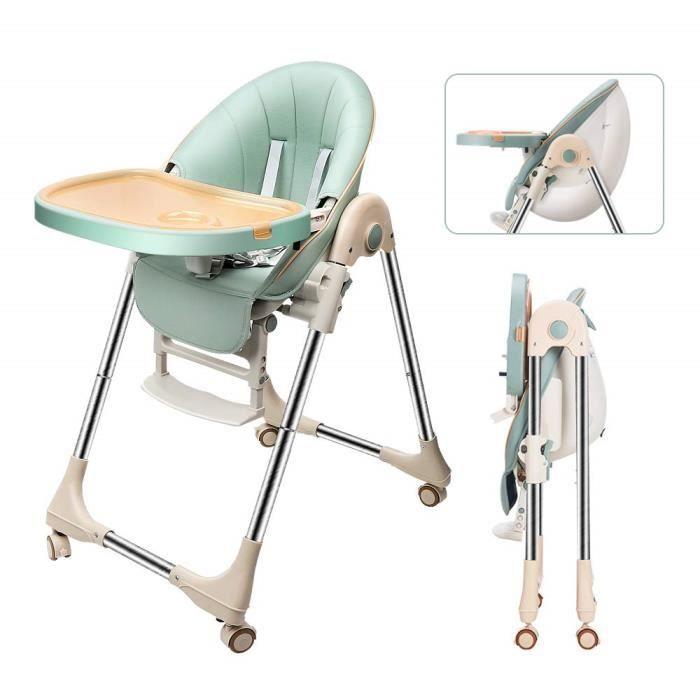 DOMICILE Chaise haute inclinable Réglable et Pliable - Avec ceinture de sécurité