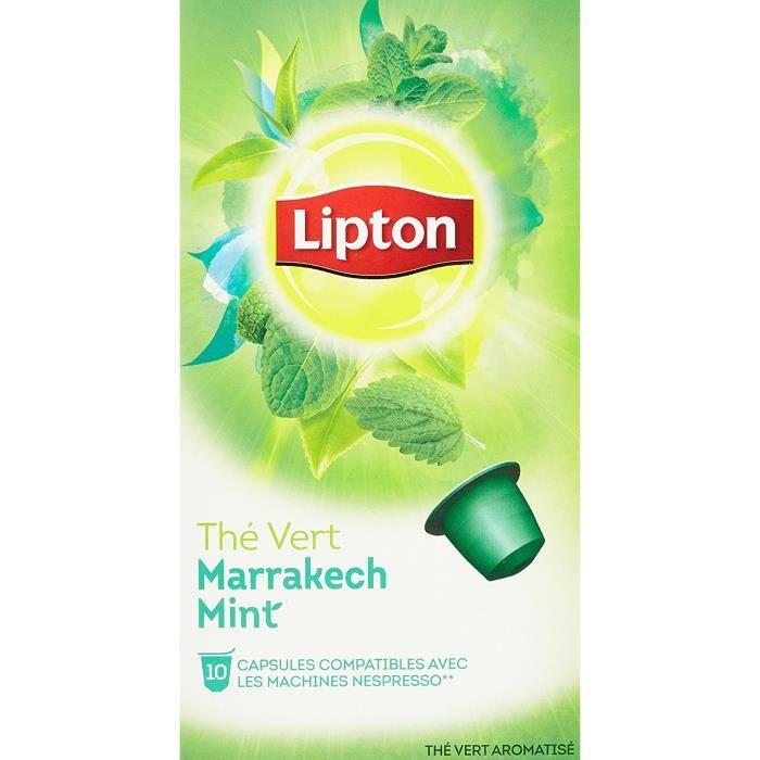 Lipton Thé Vert Marrakech Mint 10 Capsules 25g