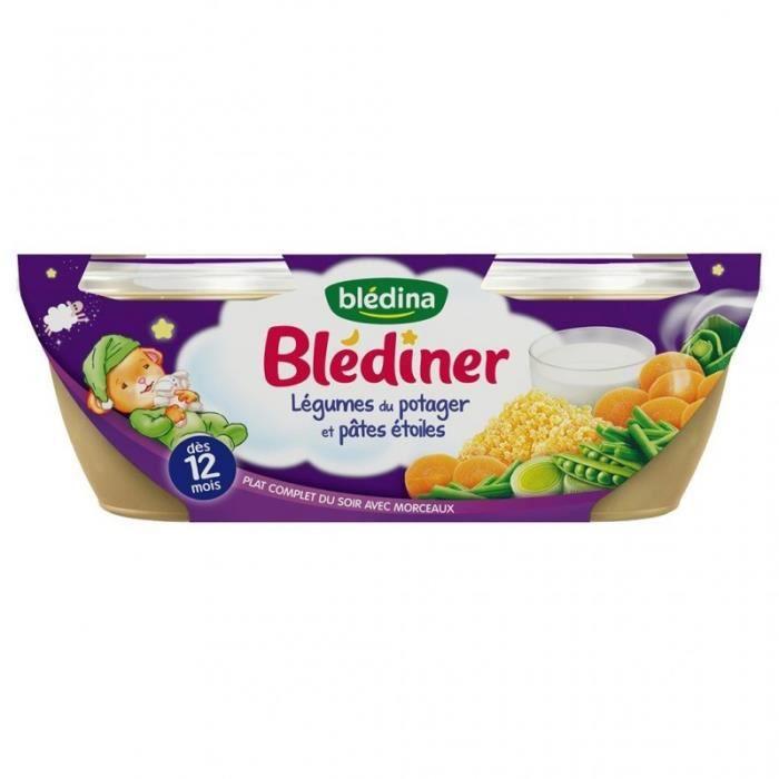Blédina Blédiner Légumes du Potager et Pâtes Étoiles (dès 12 mois) par 2 pots de 200g (lot de 8 soit