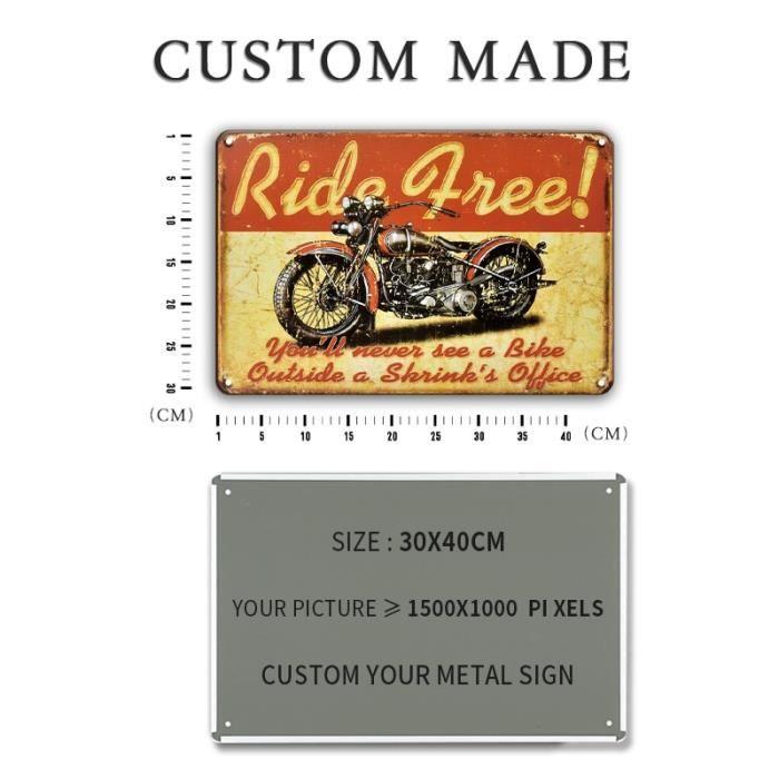 30x40 15x30cm Plaque décorative en métal de grande taille personnalisée, Plaque décorative Vintage pour Garage maison, nom, autocol