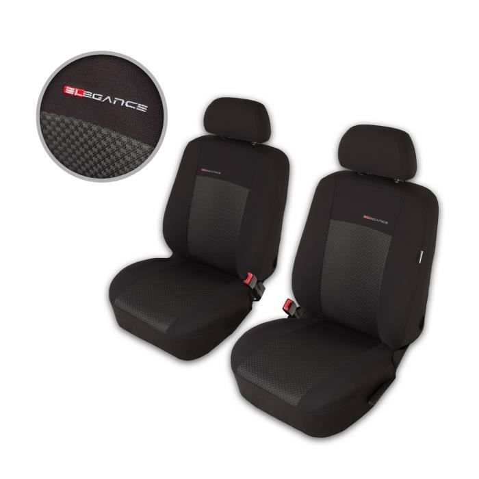Housse De Siège Voiture Auto pour Fiat Punto Grande Evo 2012 Elegance P3 1+1 Gris sièges avant