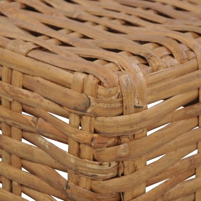 326737 - Design Furniture - Table basse Scandinave - Bout de canapé Table à thé 47x47x28 cm Rotin naturel