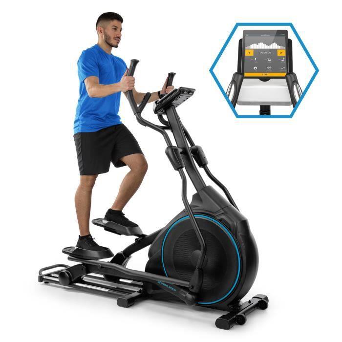 CAPITAL SPORTS Helix Star DR Vélo elliptique silencieux avec interface Bluetooth - Volant d´ Inertie 9 kg - 12 programmes