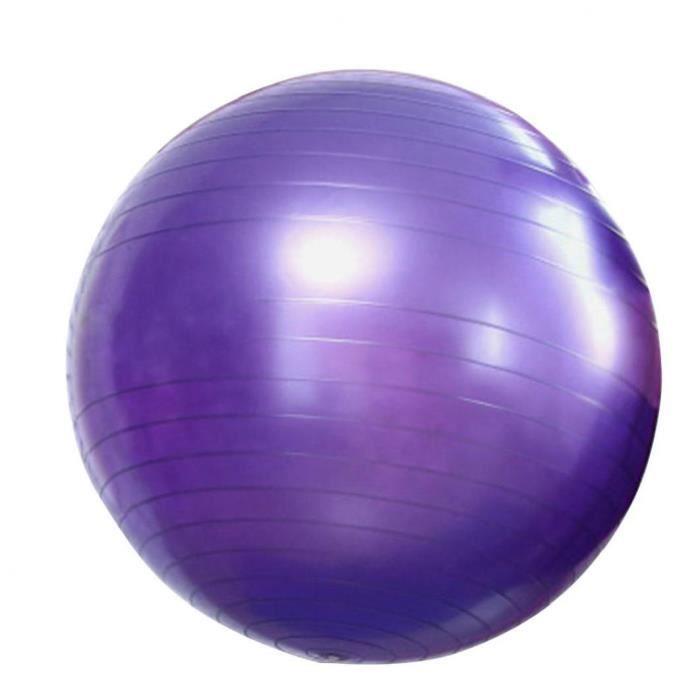 Yoga Fitness ballon d'exercice de stabilité Balle anti-éclatement pour Accouchement yoga Pilates Fitness Violet 65cm