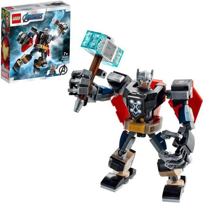 LEGO® Marvel Avengers 76169 L'armure robot de Thor, set à construire et collectionner comprenant le marteau de Thor et sa figurine