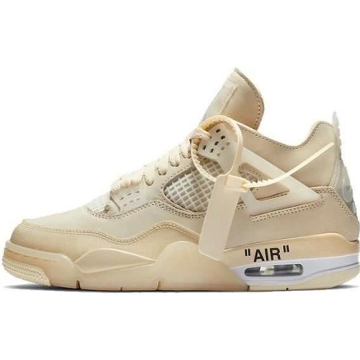 Airs Jordans 4 Retro Off-White Sail (W)Pour Chaussures Homme Femme
