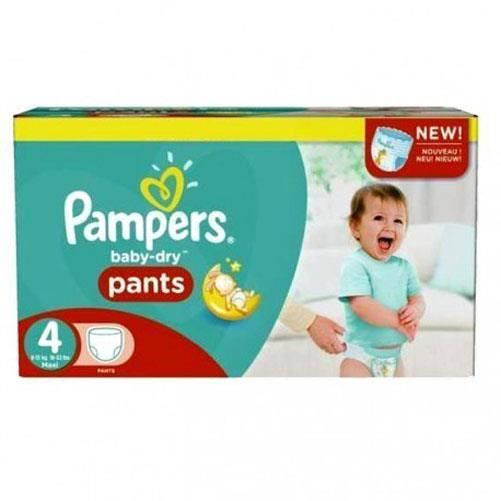 Pampers - 377 couches bébé Taille 4 baby dry pants