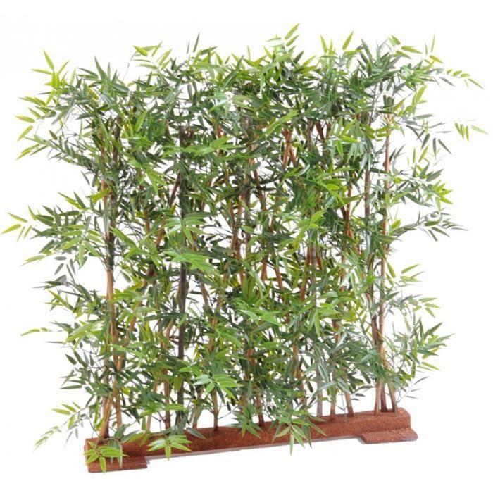 Plante artificielle haute gamme Spécial extérieur- Haie Bambou artificiel coloris vert - Dim : 150 x 45 x 110 cm