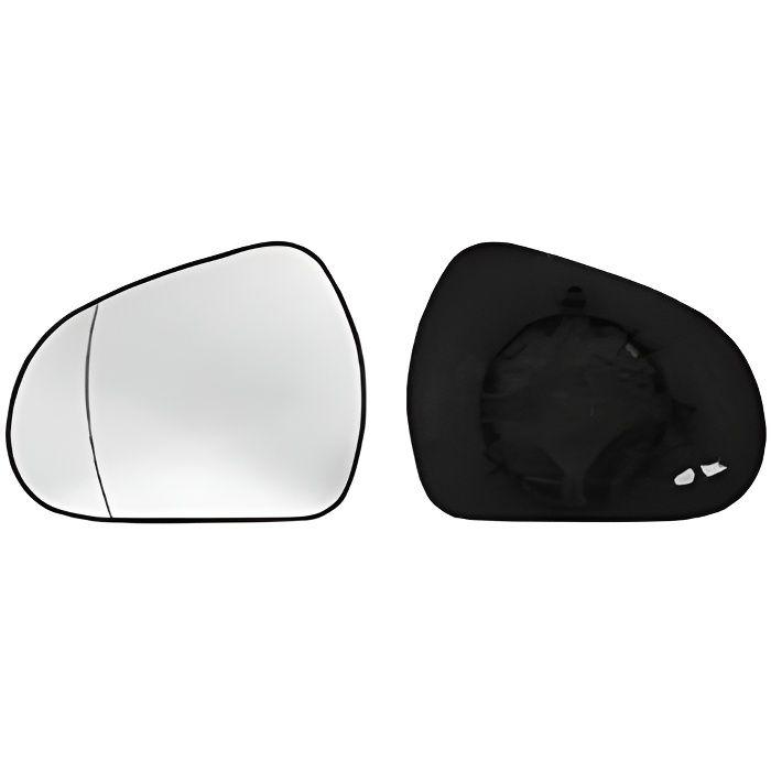 Miroir Glace rétroviseur gauche PEUGEOT 207 CC phase 2, 2009-2015, dégivrant, asphérique, à clipser.