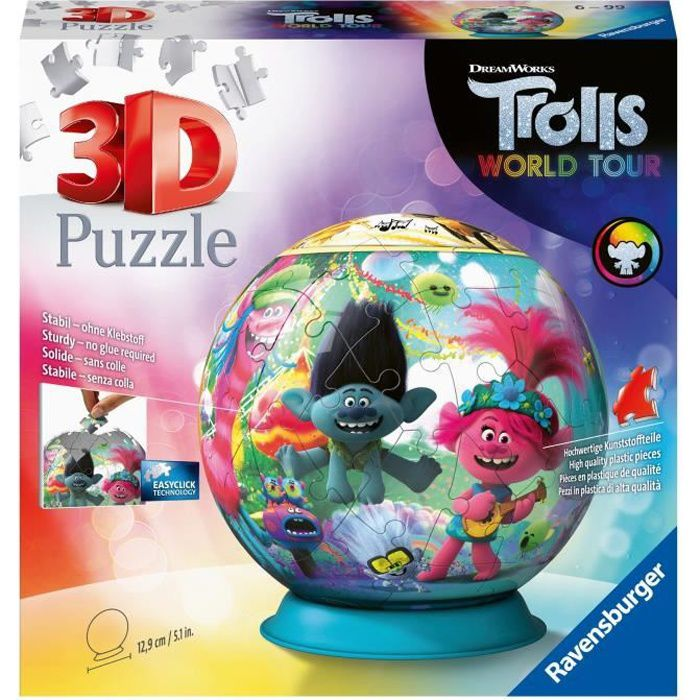 Puzzle 3D Ball 72 p - Trolls 2