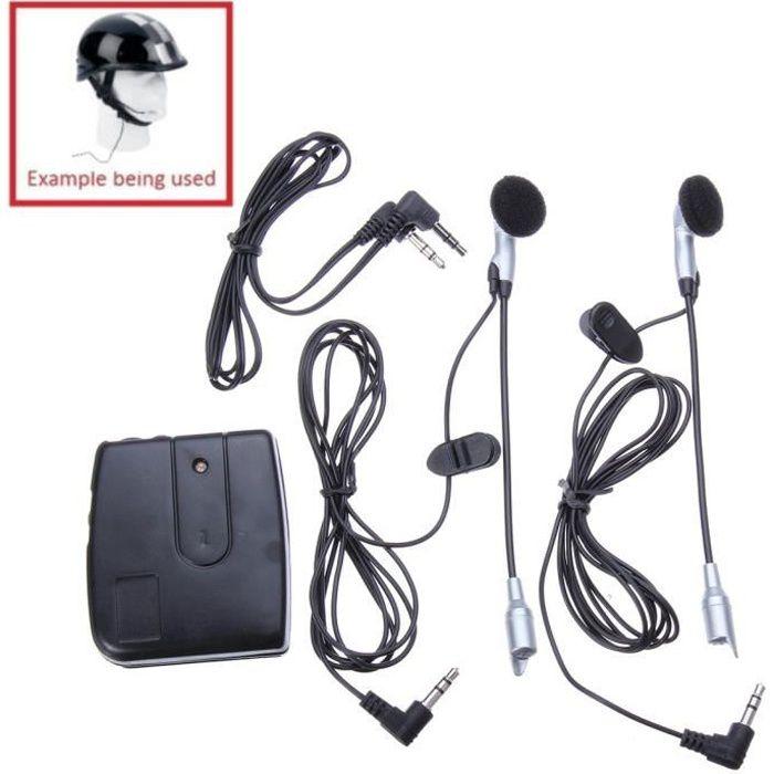 Intercom Interphone Casque écouteur 2 Passager Main-Libre Moto Pour Mp3 iPod
