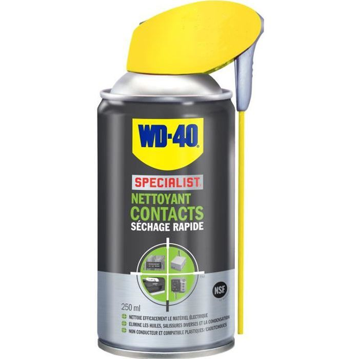 WD-40 SPECIALIST Nettoyant Contacts aérosol - 250 ml