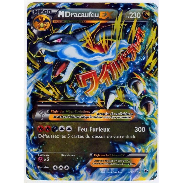 Carte Pokémon 69 106 Mega Dracaufeu Ex Jumbo 230 Pv Full Art Fr