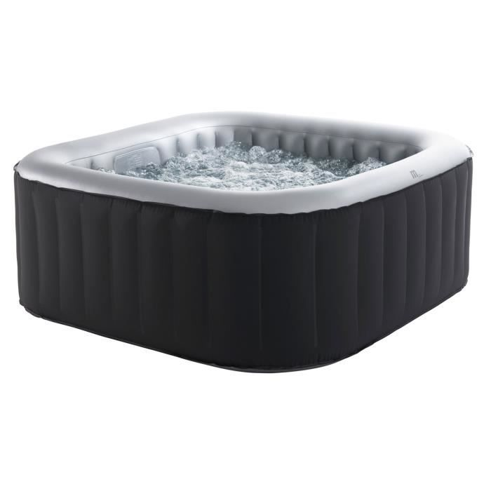 Spa carr gonflable 4 places anthracite int rieur gris - Jacuzzi gonflable pas cher promotion ...