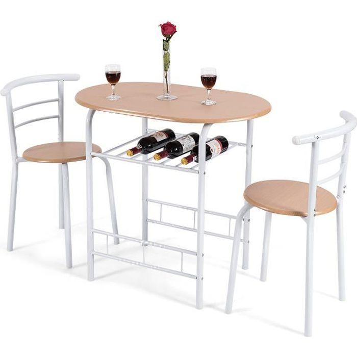 TABLE DE CUISINE  Table de Cuisine avec 2 Chaises pour Salle à Mange