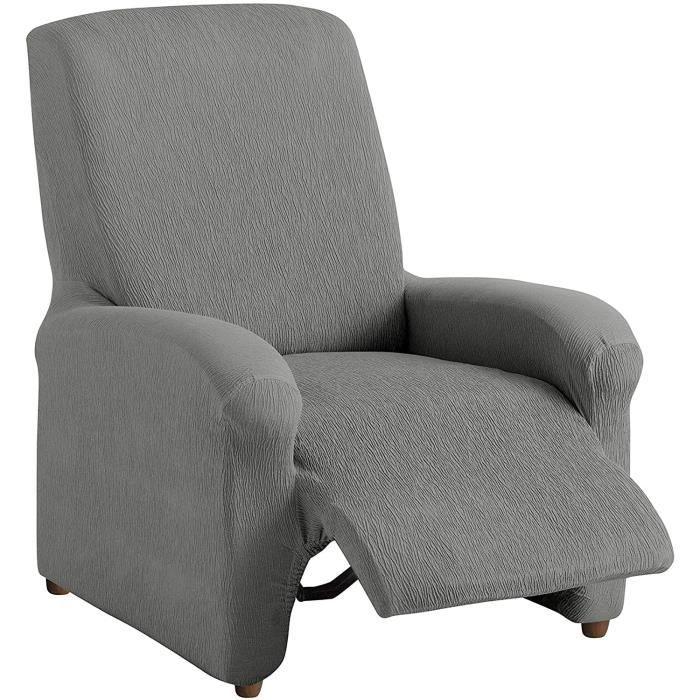 Textilhome Housse Fauteuil Relax Complete Teide Elastique Taille 1 Places 70 A 100 Cm Couleur Grey Achat Vente Housse De Canape Cdiscount