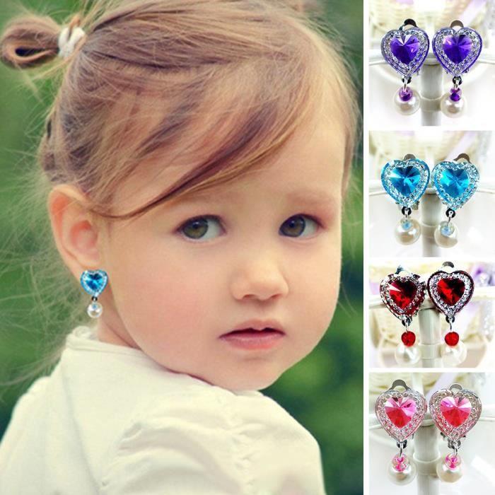 boucles d'oreille clip enfant