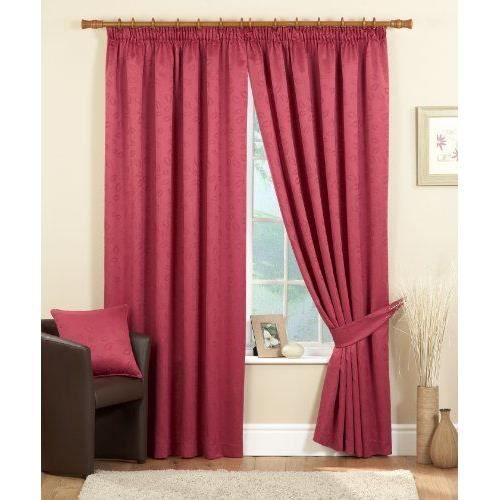 dreams 39 n 39 drapes rideau doubl avec fronce de 8 cm motif cleveland rouge 229 x 137 cm achat. Black Bedroom Furniture Sets. Home Design Ideas