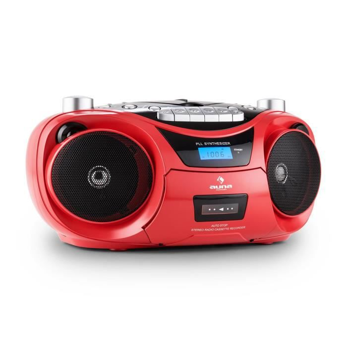 auna groove star poste radio cassette avec lecteur cd et port usb pour mp3 haut parleurs. Black Bedroom Furniture Sets. Home Design Ideas