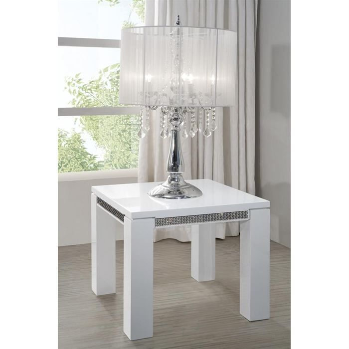 table d 39 appoint laquee blanche haute brillance achat vente table d 39 appoint table d appoint. Black Bedroom Furniture Sets. Home Design Ideas