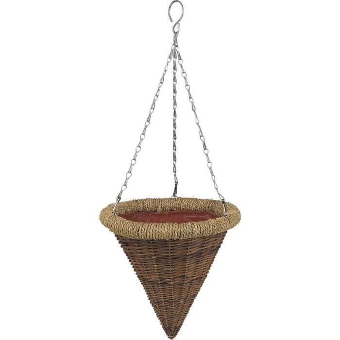 Suspension en osier brut achat vente jardini re pot fleur suspension en osier brut cdiscount - Suspension en osier ...