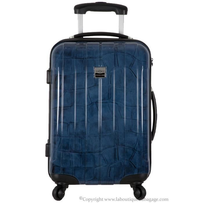 france bag valise rigide moyen s jour cancun marine crocodile bleu achat vente valise. Black Bedroom Furniture Sets. Home Design Ideas