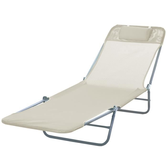 Coussin 2x transat transat chaise de jardin chaise de plage Chaise longue Divan de jardin pliant