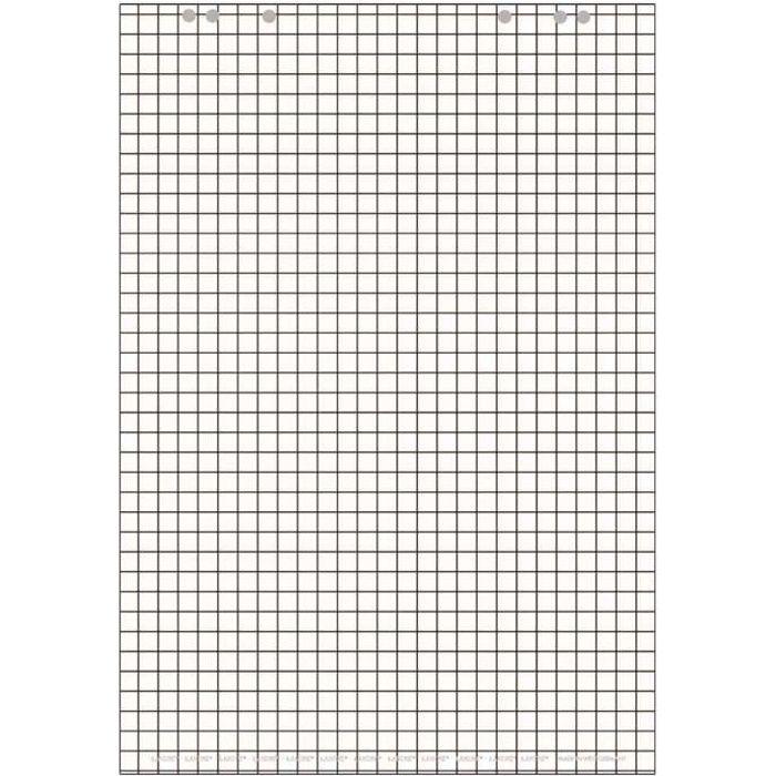 Bloc Paperboard 20 Feuilles à Carreaux En Blanc