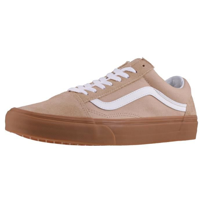 Vans Old Skool Sesame Mixte Baskets Beige Blanc - 6 UK