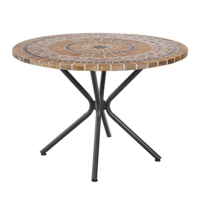 Table De Jardin Ronde Diametre 110