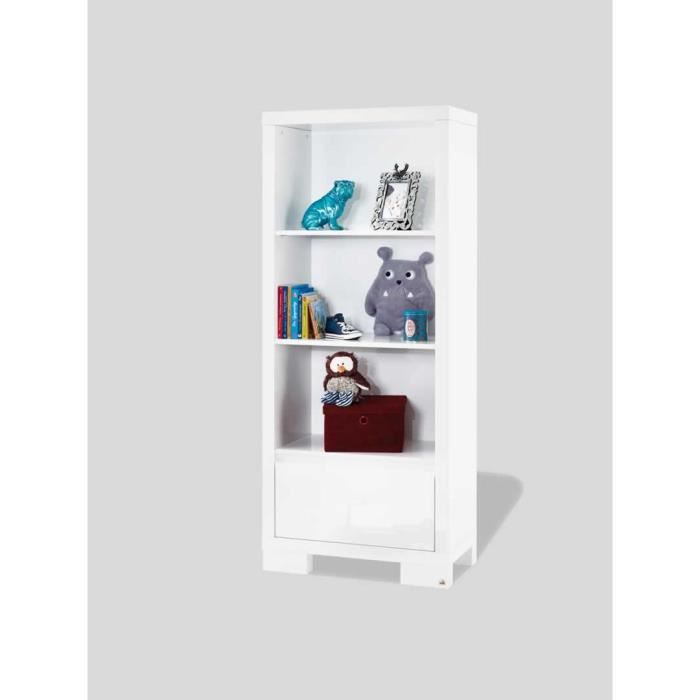 biblioth que avec tiroir c line achat vente armoire biblioth que avec tiroir c cdiscount. Black Bedroom Furniture Sets. Home Design Ideas