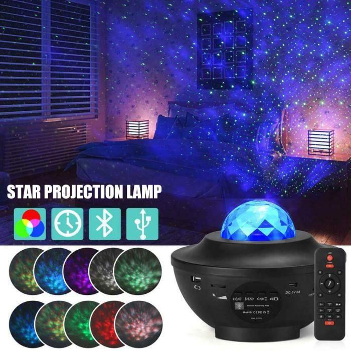 Lampe Projecteur LED Ninthealth Veilleuse Projecteur Vagues Oc/éan avec T/él/écommande Lumi/ère Projecteur Bluetooth Commande avec Enceinte Int/égr/é pour D/écoration des Chambres//Enfants//F/ête//Cadeau