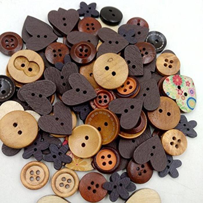Cartes 28 mm Boutons-idéal pour scrapbooking Couture 15 mm 70 x 10 mm Artisanat