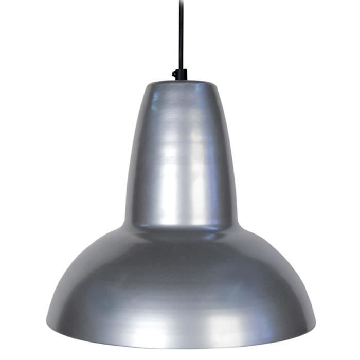 Aquitaine suspension m tal 24cm coloris aluminium for Suspension aluminium cuisine