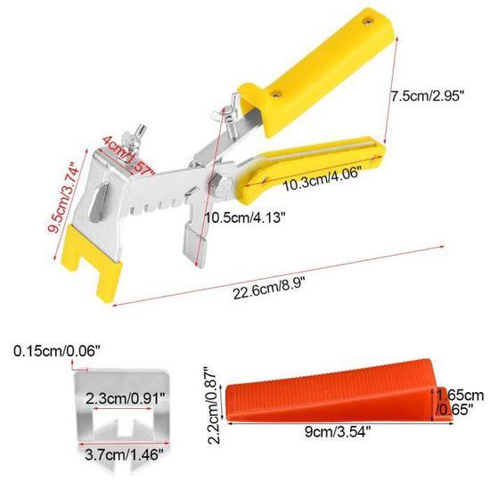 Proglam Syst/ème de nivellement de carrelage Pince//Clips Coins Kit de Cales despacement en Plastique pour Murs de Plancher