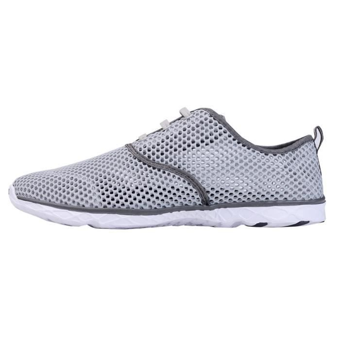 Water Shoes Mens Quick Drying Aqua Shoes Beach Pool Shoes Mesh Slip On Q57LK Taille-42