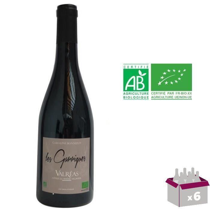 Les Garrigues 2015 Valréas - Vin rouge des Côtes du Rhône - Bio